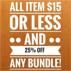 Tops - All $15 or less + 25% off bundles!