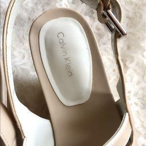 c4db218858 Calvin Klein Shoes - CALVIN KLEIN  Orian  Leather Wedge Sandal