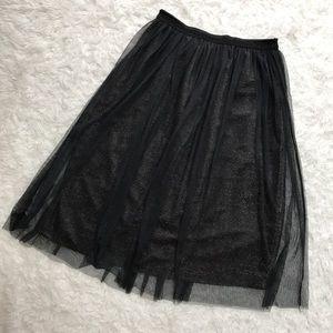 Zara Dresses & Skirts - Zara Trafaluc Glitter Tulle Midi Ballerina Skirt