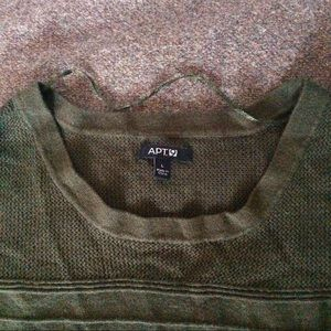 Apt. 9 Sweaters - Cute Forest Green Knit Short Sleeve Sweater