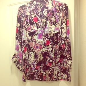 Tops - floral  button up blouse