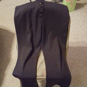 Black stretch pants with 5 buttons