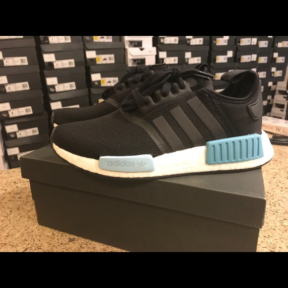 more photos d00be 24ed5 Adidas NMD R1 boost BY9951 Core Black Mint