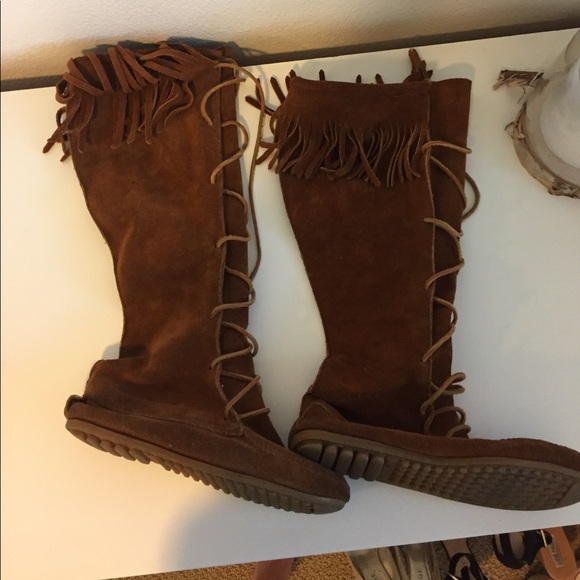 Indian Suede Tie Up Boots