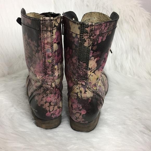 Steve Madden Shoes - Steve Madden Floral Print Leather Combat Boots