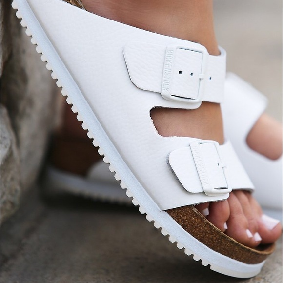 Sold White Leather Birkenstock Arizona
