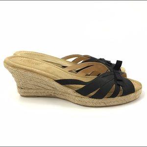 J.Crew 10 Sandals Wedge Espadrilles slip on heels