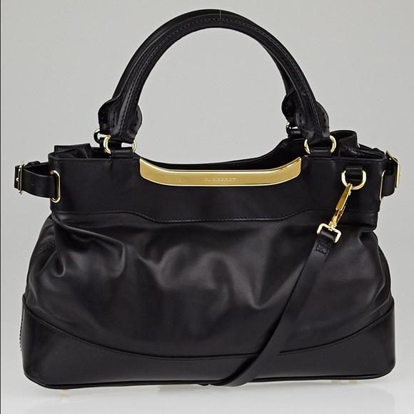 Burberry Bags   Black Leather Satchelcrossbody   Poshmark 638773e609