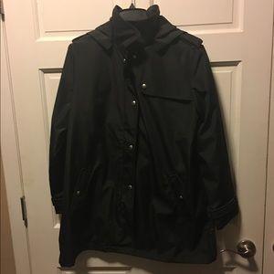 Weatherproof Jackets & Blazers - Weatherproof Women's Black Hooded Rain Jacket