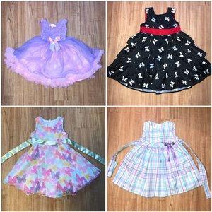 Popatu Other - Toddler Girl 3t Fun & Swirly Dress Bundle
