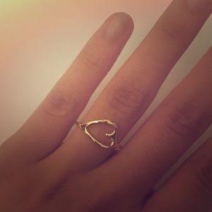Jewelry - Simple 'Eternal Love' Metal Heart Ring