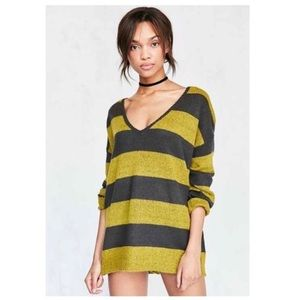 Urban Outfitters Sweaters - NWT UO Oversized Striped V-Neck Sweater by BDG