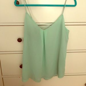 Naked Zebra Tops - Mint colored strappy tank NWOT