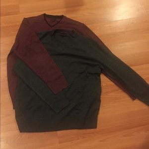 Geoffrey Beene Other - Two Geoffrey Beene V neck sweaters Large