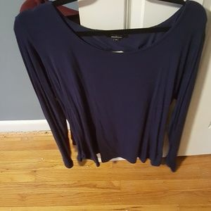 Ambiance Apparel Tops - Cross open back long sleeve top