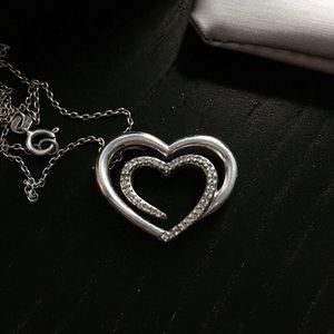 Zales Jewelry - Zales Silver Heart Necklace