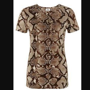 Altuzarra For Target Tops - Altuzarra for Target Snake Print Short Sleeve Top
