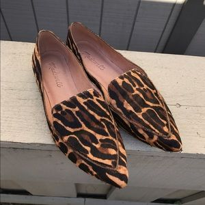 MADEWELL The Lou Loafers Leopard Print Calf Hair