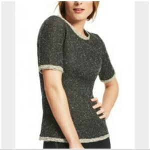 CAbi Coco shell tweed top