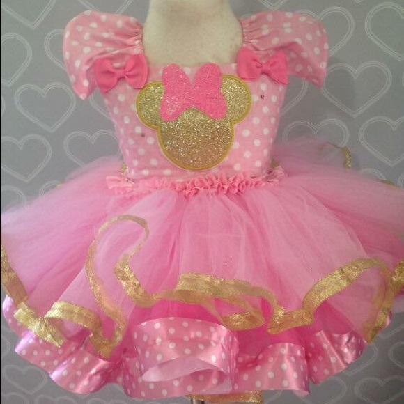 Dresses Pink And Gold Minnie Mouse Tutu Dress Birthday Poshmark
