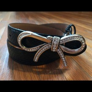 Brighton Accessories - Brighton Collectibles Leather Bow Belt