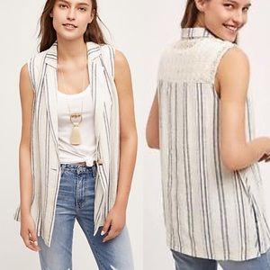Anthropologie Jackets & Blazers - Final Price Anthropologie NWT Stripe Crochet  Vest