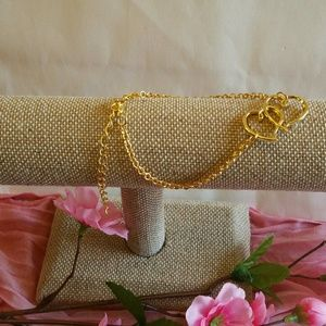 Jewelry - Gold Double Heart Anklet Ankle Bracelet