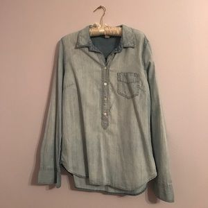 J crew denim button down top