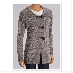 Gray Marled Toggle Sweater