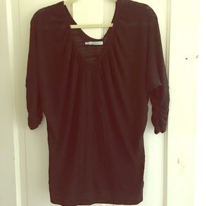 Maurices v neck sheer burn out blouse - size large