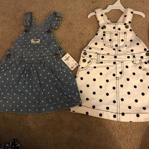 2 overall dresses 24m 2t