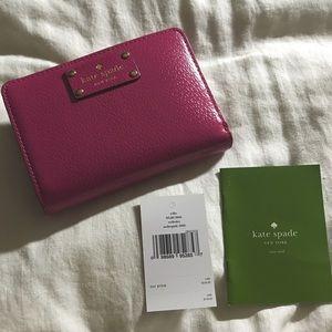 kate spade Handbags - Kate Spade Wellesley Tellie Leather Wallet, Pink