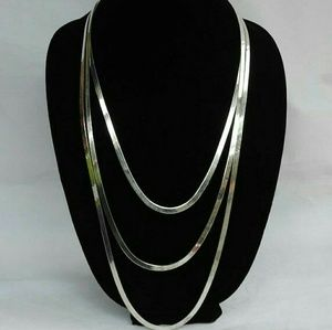 Jewelry - Vintage Made in Italy 925 Silver necklace set