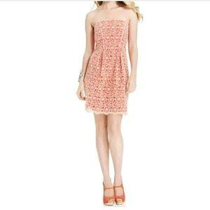 Jessica Simpson Pink Sheath Lace Floral Dress 2