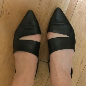 McQ Alexander McQueen Shoes - Black Leather McQ by Alexander McQueen Flats Shoes