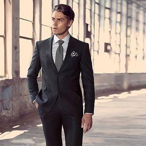 Suits & Blazers - ARMANNO UOMO BLACK TUXEDO SATIN NOTCH COLLAR SZ SM