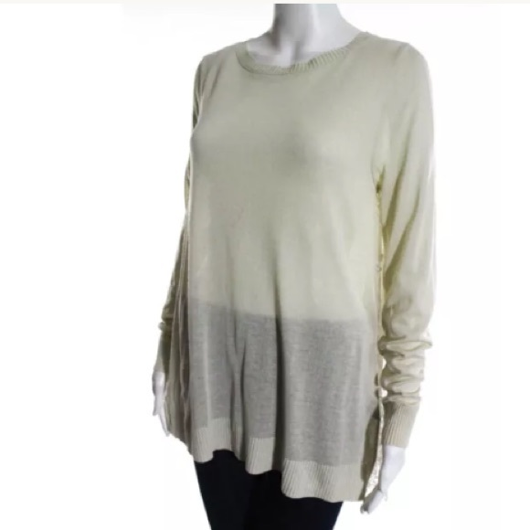 NWT HOTEL PARTICULIER. LONG SLEEVE LACE TOP SZ SM e9847f5b59d