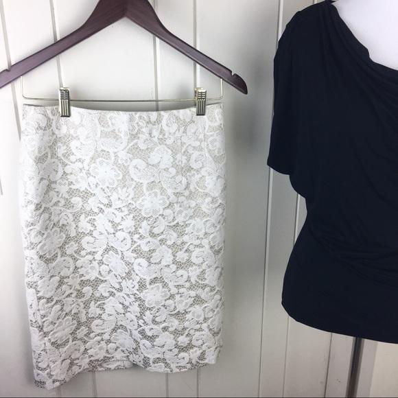 ea59aa6481 Banana Republic Dresses & Skirts - Banana Republic ivory tan floral lace  pencil skirt