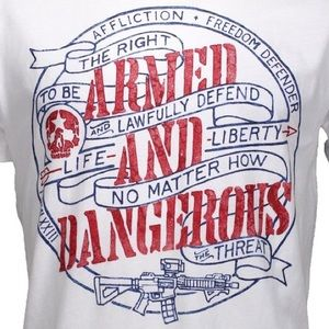 Affliction Other - 🆕 NWT White Affliction Armed & Dangerous T-shirt