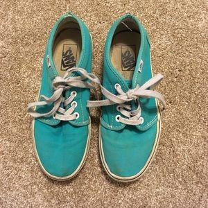 Turquoise Vans Sneakers
