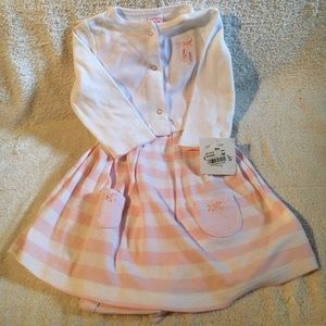 """Carter Other - NWT """"Carters"""" (2) Piece Pink/White Outfit, Size 9M"""