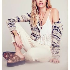 Free People Sweaters - FREE PEOPLE Cardigan Sweater Intricate Rugged Top