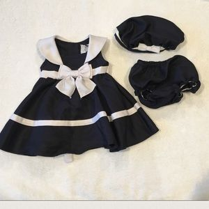 Rare Editions Other - Rare Editions Sailor Dress with Hat and Bloomer