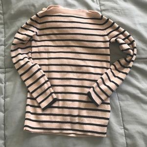 J. Crew Factory Other - Navy and cream stripe boat neck sweater