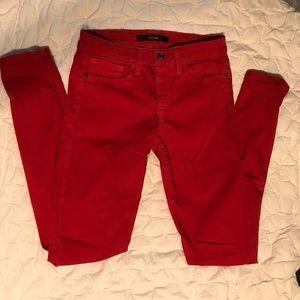 Joe's Skinny Visionaire Red Jeans