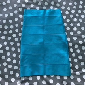 Blue BEBE Bodycon Skirt