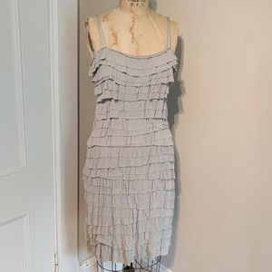 Bailey 44 flapper ruffle bra strap dress
