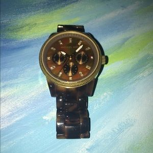 Michael Kors Accessories - Michael Kors Tortoise Shell Watch