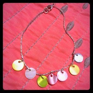 "Jewelry - 9"" Ankle bracelet pastel shells"
