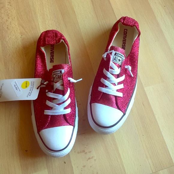 Converse Shoreline Raspberry Pink Glitter Sneakers Boutique